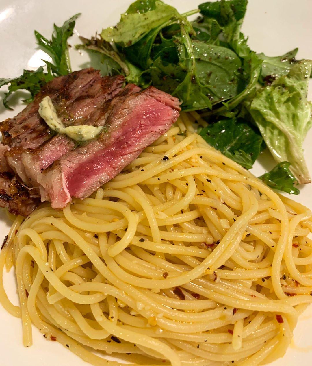 Striploin Steak with Pasta