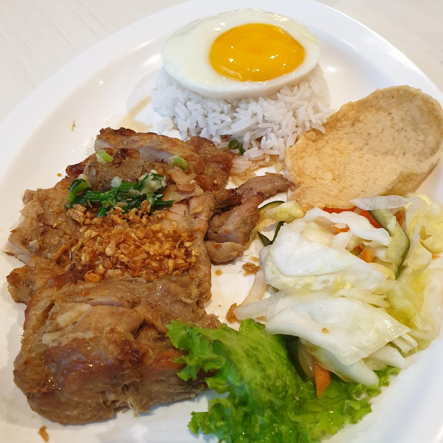 Grilled Lemongrass Beef with Rice