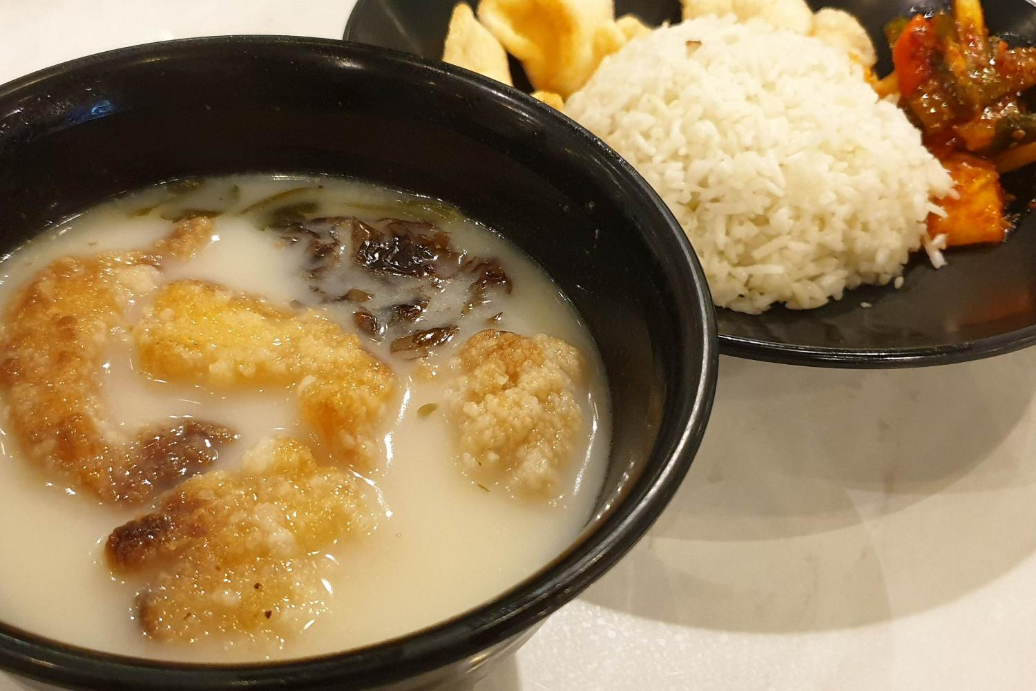 Fish Soup With Rice At Heavenly Wang Halal Tag Singapore