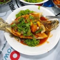 Sea Bass with Sweet and Sour Sauce