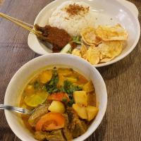 Soto Betawi with Satay
