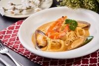 Tom Yum Seafood Pasta