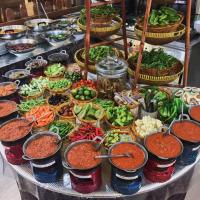 Sambal and Vegetable Buffet